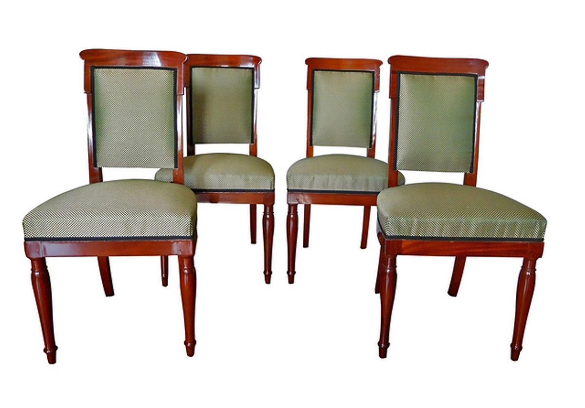 Jacob Desmalter   Empire Mahogany Chairs Stamped