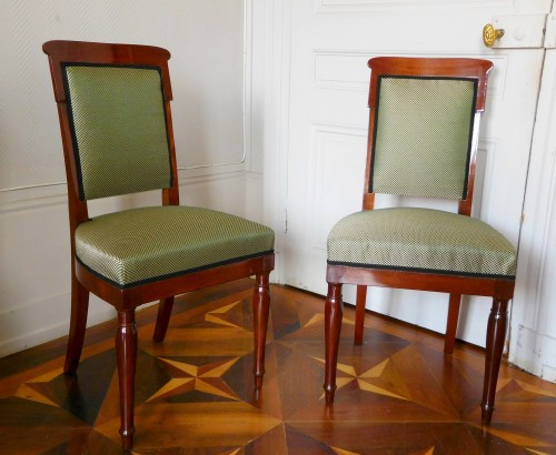 Jacob Desmalter - Empire mahogany chairs stamped - Seating Style Empire