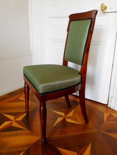 Jacob Desmalter - Empire mahogany chairs stamped -