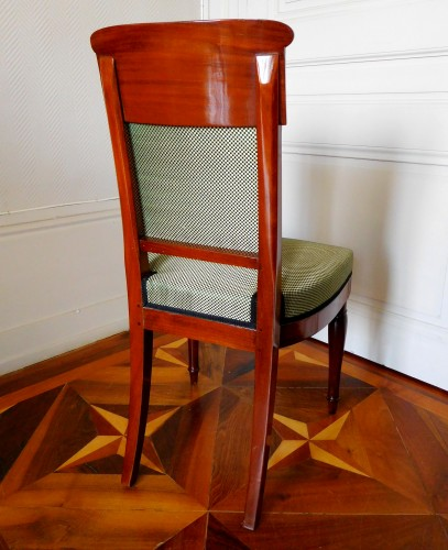 Antiquités - Jacob Desmalter - Empire mahogany chairs stamped