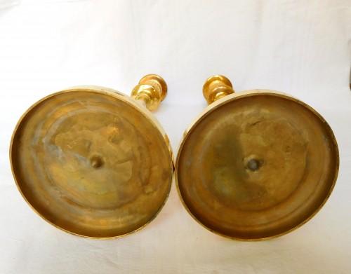 Empire - Claude Galle - Pair of Empire period ormolu candlesticks