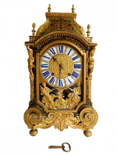 Louis XIV Boulle marquetry clock