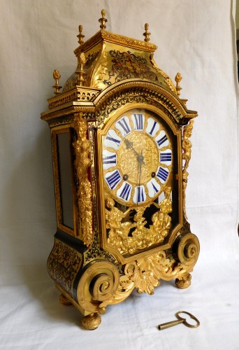 Louis XIV Boulle marquetry clock - Clocks Style Louis XIV