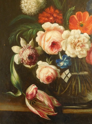 Paintings & Drawings  - flowers bouquet - 18th century Dutch school