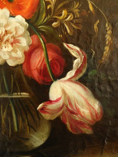 18th century - flowers bouquet - 18th century Dutch school