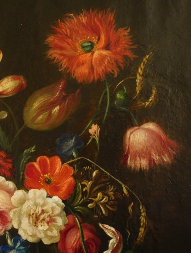 Louis XVI - flowers bouquet - 18th century Dutch school