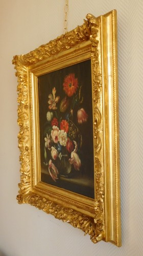 Antiquités - flowers bouquet - 18th century Dutch school