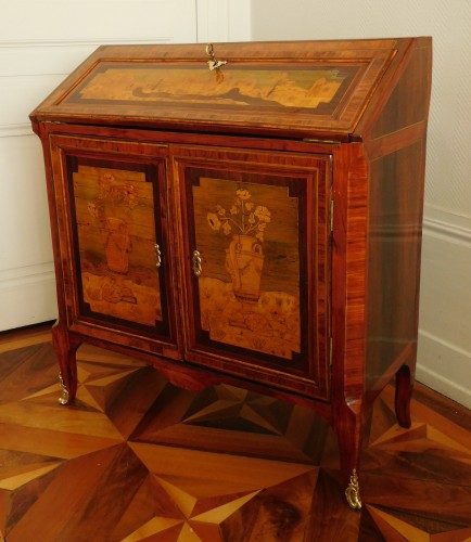 Furniture  - 18th century Writing desk, stamped Topino