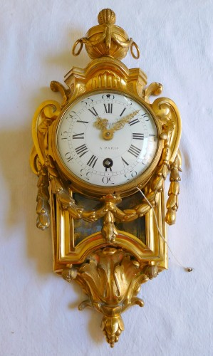 Clocks  - Ormolu bedroom cartel circa 1775