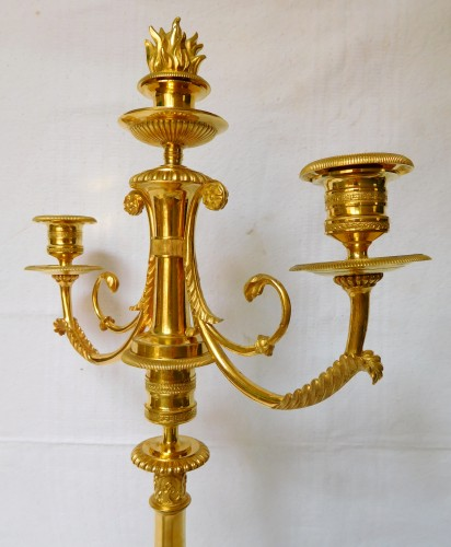Antiquités - Pair of ormolu candelabras, early 19th century