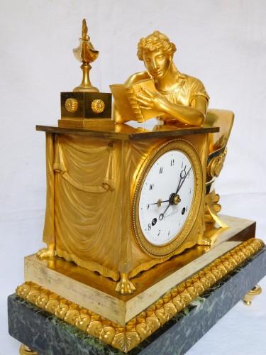 """Empire Ormolu Clock """"the Liseuse"""" Dial signed Grand Girard - Empire"""