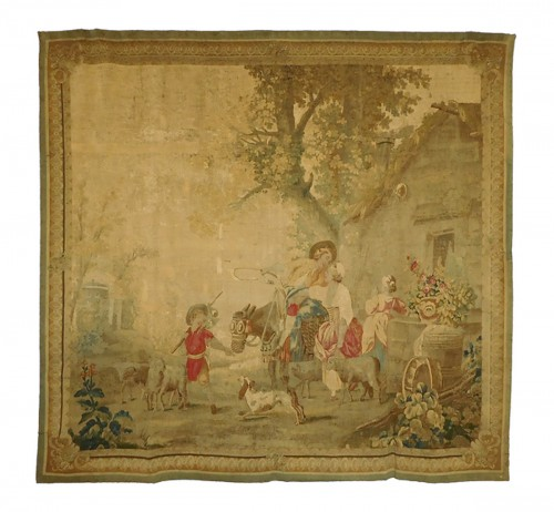 Aubusson tapestry, wool & silk, Louis XVI period
