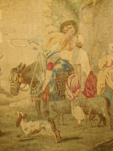 Aubusson tapestry, wool & silk, Louis XVI period -