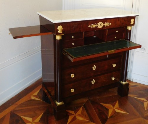 Furniture  - Empire Period Commode-secretary, Circa 1810 Stamped of Molitor