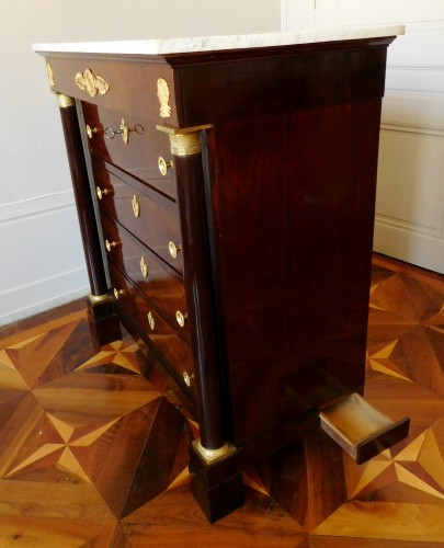 19th century - Empire Period Commode-secretary, Circa 1810 Stamped of Molitor
