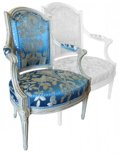Pair Of Louis XVI Armchairs Stamped C Sené