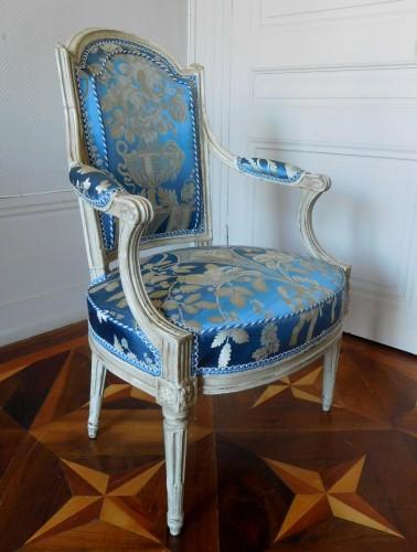 Seating  - Pair Of Louis XVI Armchairs Stamped C Sené