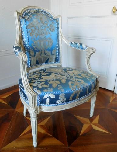 Pair Of Louis XVI Armchairs Stamped C Sené  -
