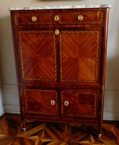 Furniture  - Secrétaire d'époque Louis XVI en marqueterie