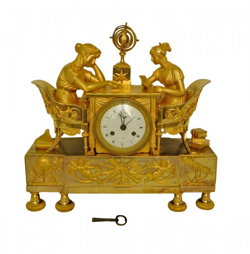 Empire ormolu clock - The Astronomy, after Reiche by Claude Galle