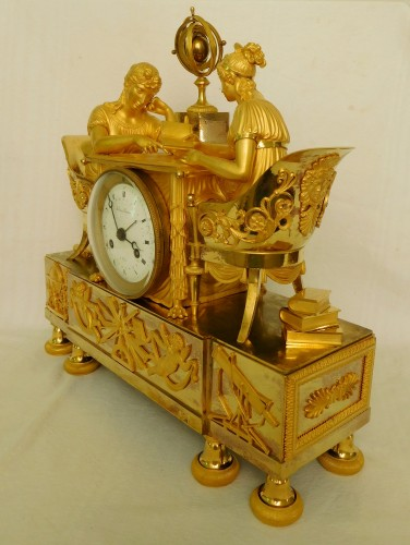 Clocks  - Empire ormolu clock - The Astronomy, after Reiche by Claude Galle