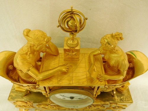 19th century - Empire ormolu clock - The Astronomy, after Reiche by Claude Galle