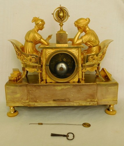 Empire ormolu clock - The Astronomy, after Reiche by Claude Galle - Empire