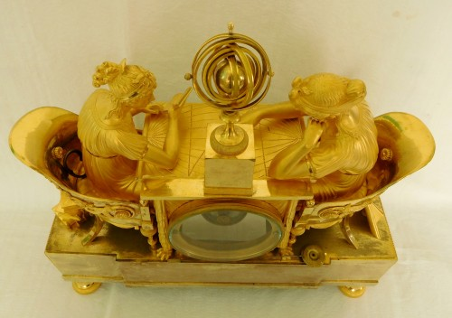 Empire - Empire ormolu clock - The Astronomy, after Reiche by Claude Galle