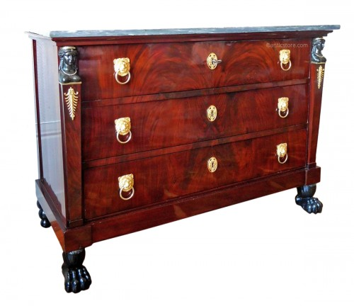 Mahogany commode, Empire Consulat period
