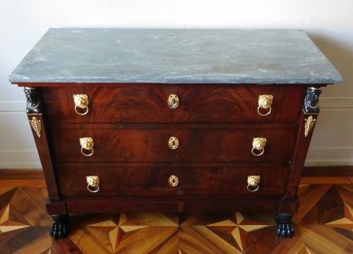 Furniture  - Mahogany commode, Empire Consulat period