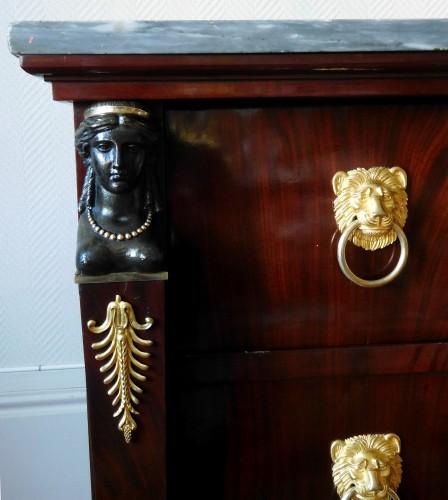 Mahogany commode, Empire Consulat period - Empire