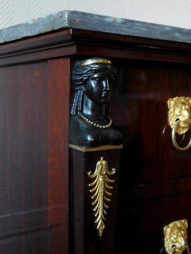 Antiquités - Mahogany commode, Empire Consulat period