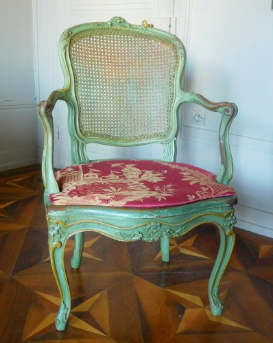 JB Gourdin Louis XV Canned Set (2 Armchairs & 4 Chairs) - Signed -