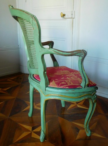 JB Gourdin Louis XV Canned Set (2 Armchairs & 4 Chairs) - Signed - Louis XV