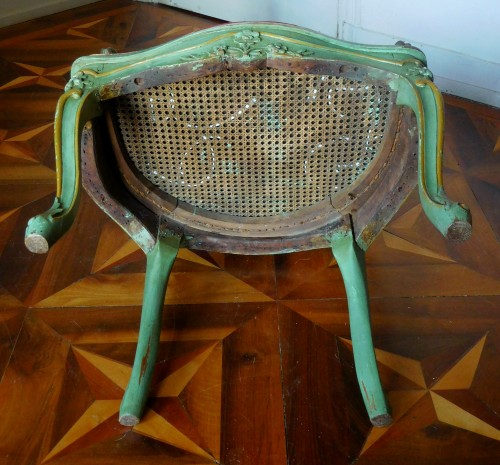 Antiquités - JB Gourdin Louis XV Canned Set (2 Armchairs & 4 Chairs) - Signed