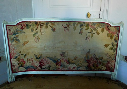 Antiquités - Louis XVI Sofa With Aubusson Tapestry - Circa 1780