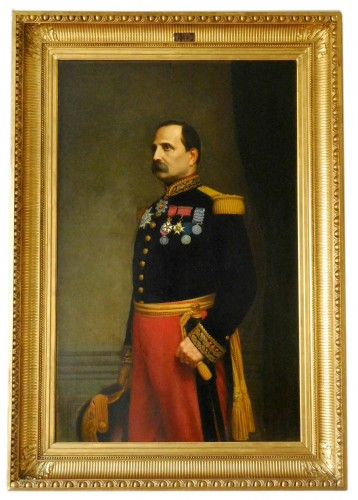 Eugène Laville - tall portrait of General Barral 175cm x 124cm