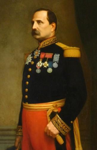 Eugène Laville - tall portrait of General Barral 175cm x 124cm -