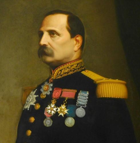 19th century - Eugène Laville - tall portrait of General Barral 175cm x 124cm