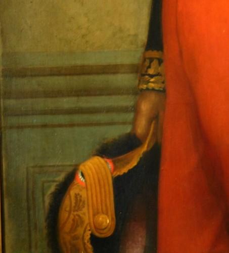 Antiquités - Eugène Laville - tall portrait of General Barral 175cm x 124cm