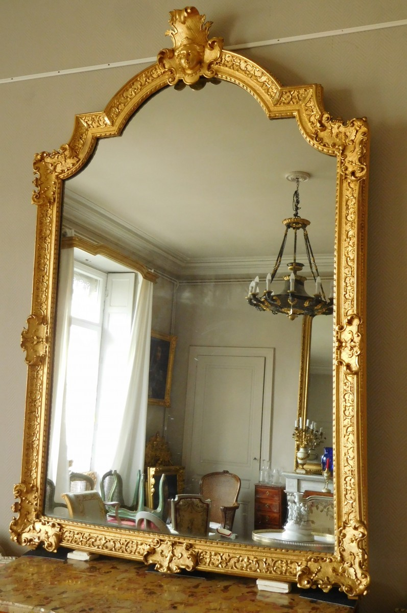 Giltwood Mirror French Regence 18th Century Ref 72908