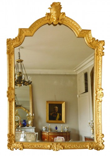 Giltwood mirror, French Regence - 18th century