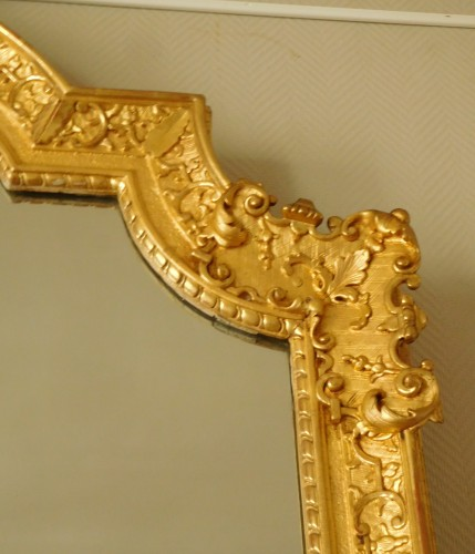 Antiquités - Giltwood mirror, French Regence - 18th century