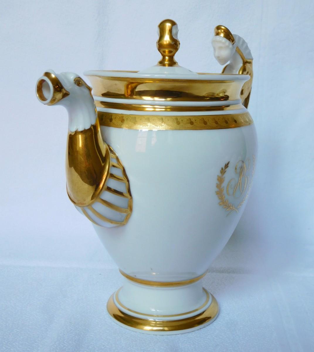 Paris Porcelain Art Nouveau Period Lamp Chinese Taste: Empire Porcelain Coffee Set