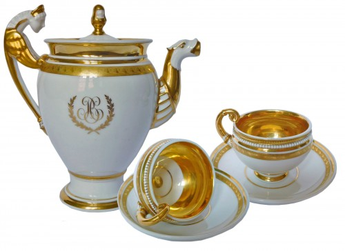 Neppel manufacture - Paris - Empire porcelain coffee set