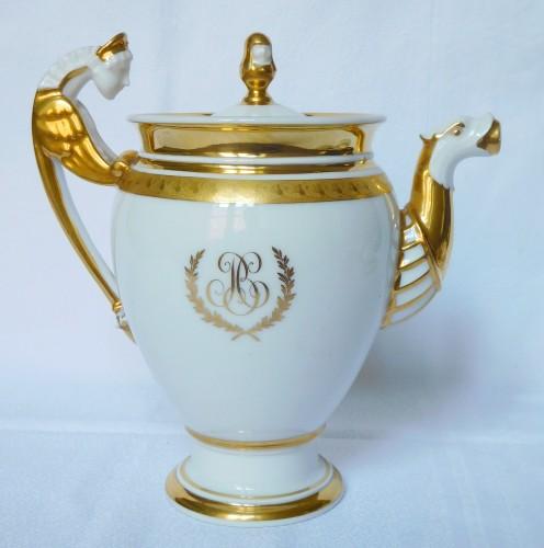 Neppel manufacture - Paris - Empire porcelain coffee set - Porcelain & Faience Style Restauration - Charles X