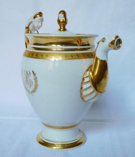 Porcelain & Faience  - Neppel manufacture - Paris - Empire porcelain coffee set