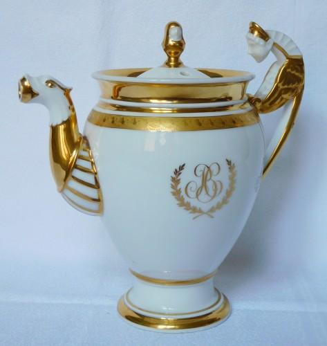19th century - Neppel manufacture - Paris - Empire porcelain coffee set