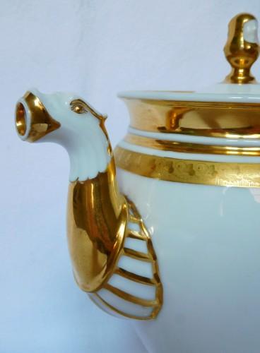 Neppel manufacture - Paris - Empire porcelain coffee set - Restauration - Charles X