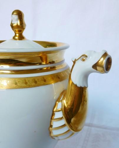 Restauration - Charles X - Neppel manufacture - Paris - Empire porcelain coffee set